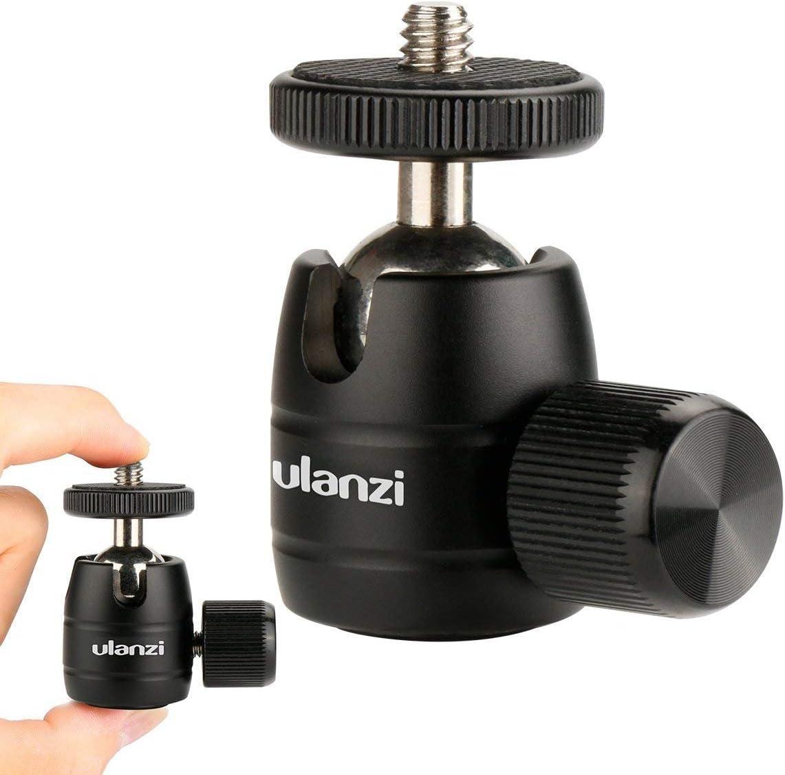 "Ulanzi U-30 Mini Ball Head,360 Degree Rotating Swivel Tripod Head with 1/4""3/8""Thread Base Mount for DSLR Camera like Canon,Nikon,Sony/Camcorder/iPhone 8 7 Plus Gopro"