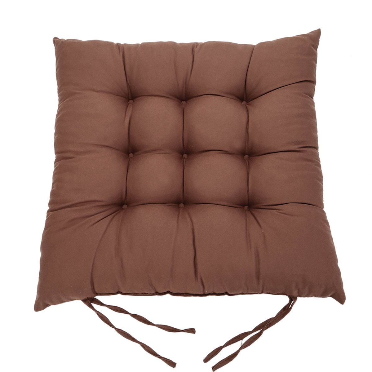 O'Abazar New dot or solid color Soft Home Office Decoration Square Buttocks Seat Chair Cushion Pads Pillow (Brown) O'Abazar