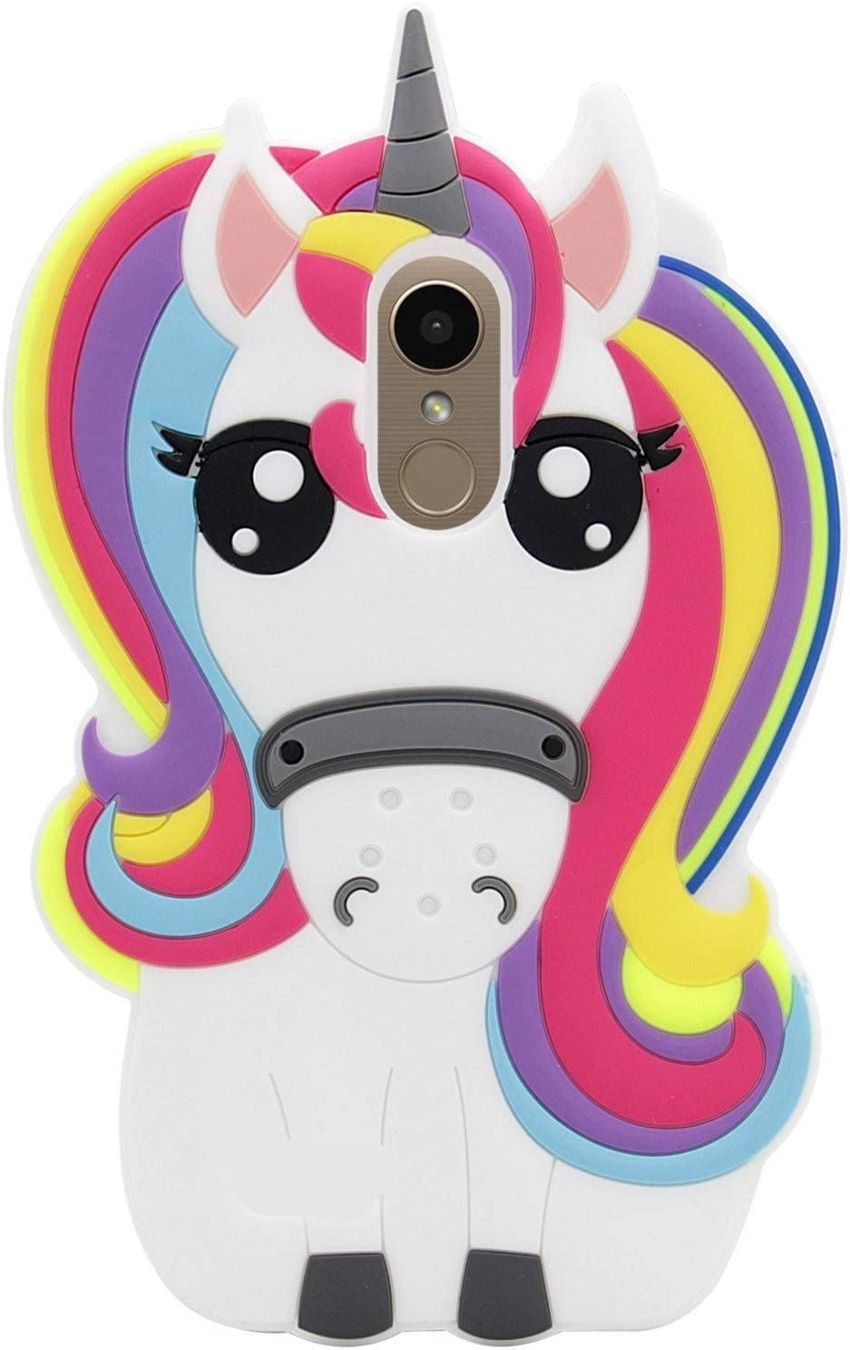 Joyleop Case for LG Stylo 4/LG Q Stylus,Cartoon Soft Silicone Cute 3D Fun Cool Cover,Kawaii Unique Kids Girls Animal Character Rubber Skin Shockproof Protector Cases for LG Stylo 4Plus Rainbow Unicorn
