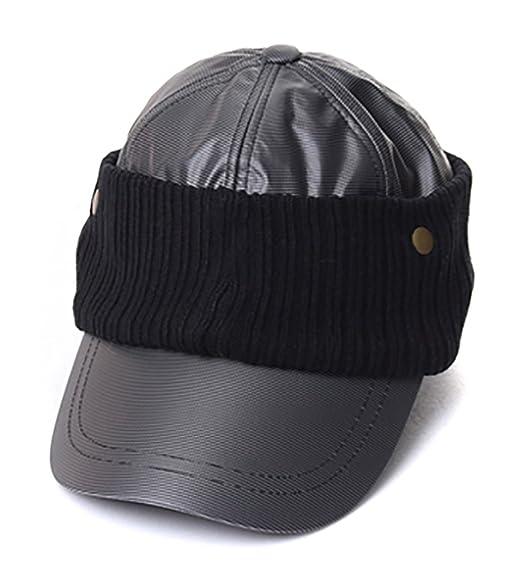 5bce5e07d1f Baseball Cap with Detachable Knit Neck Warmer Ear Warmer Headband (Black)