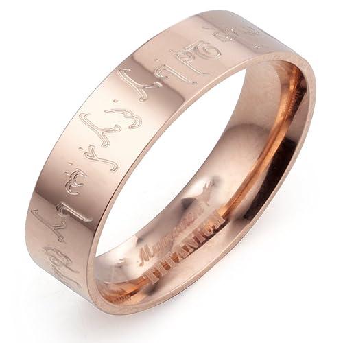 Gemini carcasa el Señor de los anillos graba alianza de oro rosa y cristales de pista