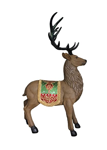 60 commercial grade standing reindeer fiberglass christmas decoration - Commercial Grade Outdoor Christmas Decorations