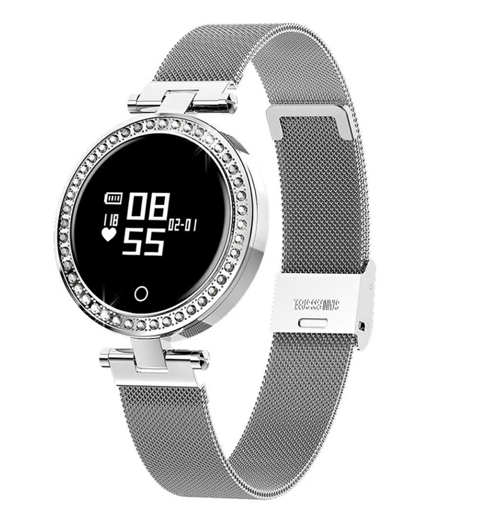 ZLOPV Pulsera Smart Watch para Mujer IP68 Monitor de Ritmo ...