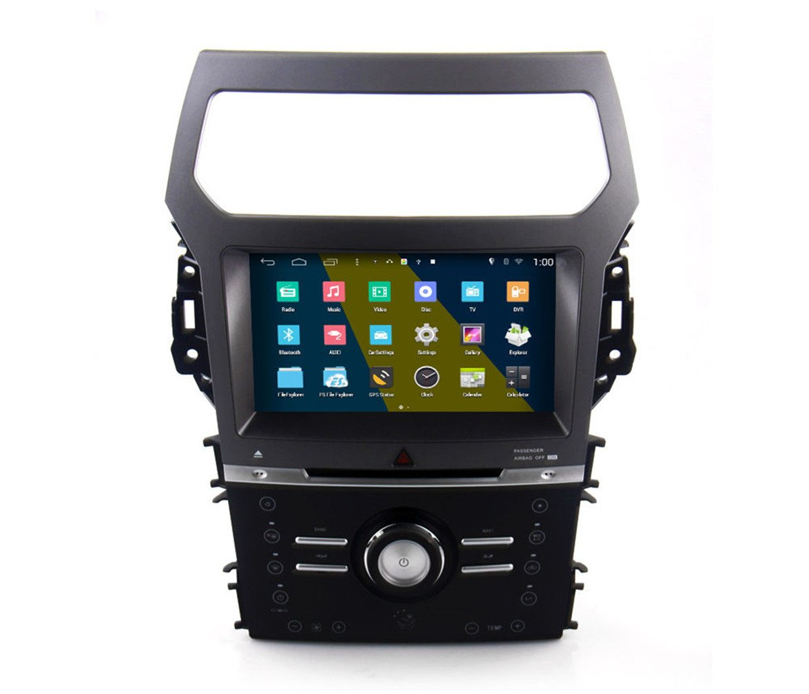 Amazon.com: RoverOne Android 4.4.4 In Dash Car DVD GPS Navigation System  for Ford Explorer 2012 2013 2014 2015 with Stereo Radio Bluetooth GPS SD  USB Mirror ...