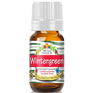 Pure Gold Wintergreen Essential Oil, 100% Natural & Undiluted, 10ml
