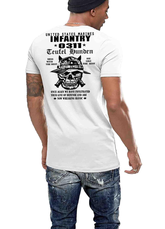 e9ec912c Amazon.com: USMC T-Shirt US Marines Infantry 0311 Devil Dog Semper Fi XVI:  Clothing