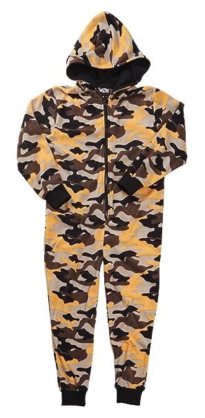 f56f502240 Niños jóvenes niños diseño de camuflaje con capucha Onesie pijama  microforro polar pijama edad 7 - 13 años MultiBuy - 2 Colours 13 Años   Amazon.es  Ropa y ...