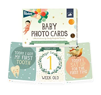 Amazon.com: Milestone – Tarjetas de fotos de bebé sueño ...
