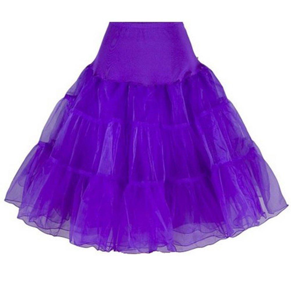 Petticoat Crinoline. Wonderful Petticoat Skirt for Petticoat Dresses, Poodle Skirts, Vintage Dresses as Rockabilly Adult Tutu Skirt. Tulle Fabric; 26'' Length - Purple Petticoat