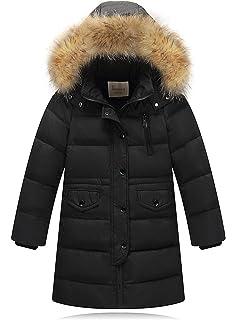 70d4a0084 Anastasia Kids Girls Winter Warm Faux Fur Hooded Parka Down Coat ...