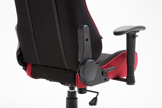Silla de oficina Jerez plástico negro/rojo: Amazon.es: Jardín