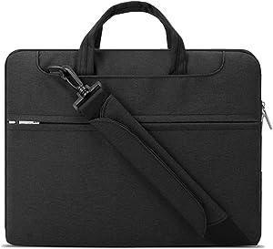 Lacdo 14 inch Laptop Shoulder Bag Sleeve for HP Chromebook 14 / Stream 14 / Pavilion 14, Acer Swift 1 3 5, Lenovo IdeaPad 3 / S150, CHUWI HeroBook Pro 14.1, ASUS ZenBook 14, Dell Inspiron 14, Black