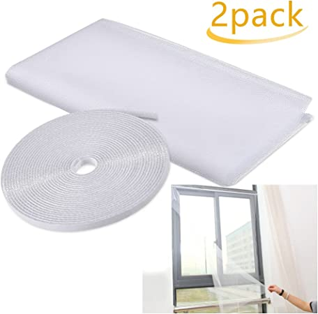 vijTIANDifine Details About 2X Insect Screen Window Netting Kit Fly Bug Wasp Mosquito Curtain Mesh Net Cover
