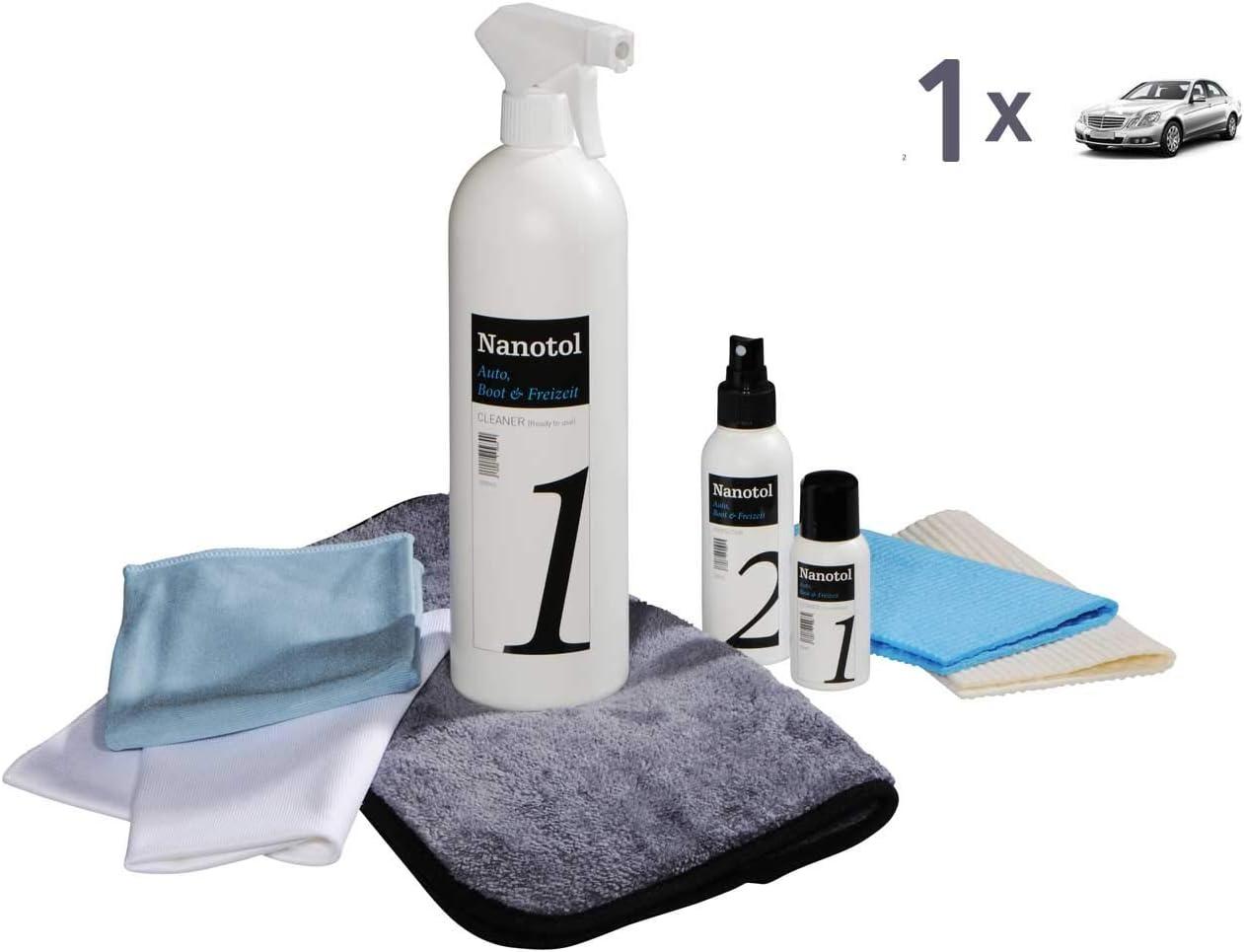Nanotol Premium Nanoversiegelung/Keramikversiegelung Autopflege Set S (reicht für 1 KFZ) / Universell anwendbar auf Lack - Nanoversiegelung