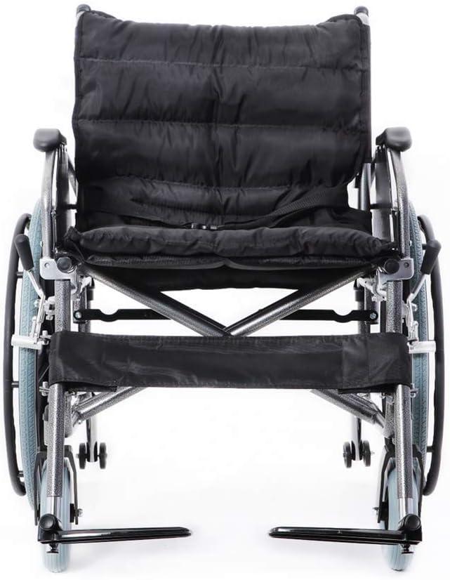 Y-L Ancianos Discapacitados Silla de Ruedas, Engrosamiento Agravado Personas Anchas Y Grandes Obesas Silla de Ruedas Carga Plegable 300 Kg Ancho de Asiento 56