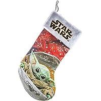 Kurt Adler SW7205 Star Wars The Child Baby Yoda Stocking with Cuff, 19-inch Length, Polyester
