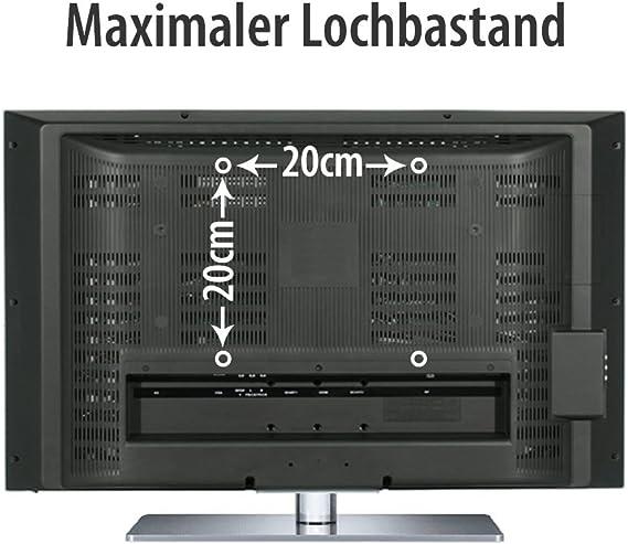 Fair Style TV soporte de Pared orientable extensible +/- 15° adecuado para TV y monitores de hasta 106 cm en diagonal (42 pulgadas) con estándares VESA en mm: 75x75 | 100x100 |