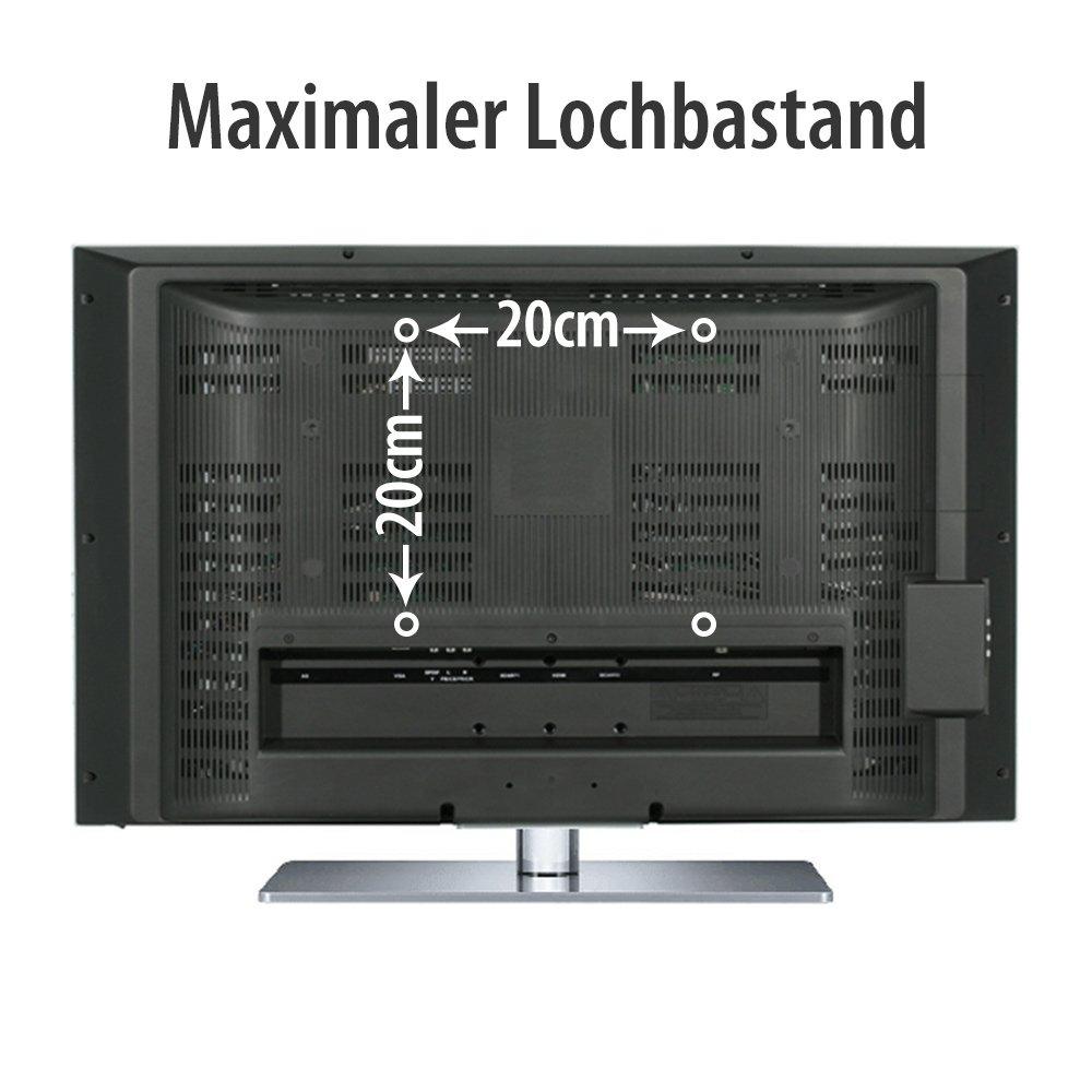 Support Mural Pour Tv 37 Vesa Max 20 X 20 Cm Orientable Et  # Meuble Tv Fixation Murale