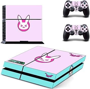 yifangmao - Adhesivo para Consola Sony Playstation 4 PS4 + 2 Pegatinas de película para Mando: Amazon.es: Juguetes y juegos