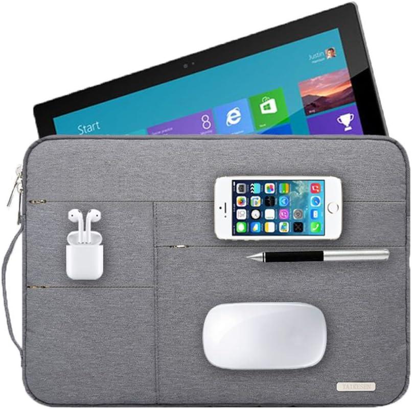 Audirex Water Drop Proof Laptop Tablet Sleeve Handbag for 12 - 13.3 Inch MacBook Air   MacBook Pro Retina 2012 - 2019   12.9 Inch iPad Pro   Surface Pro 6 5 4   New Surface Pro (Grey)