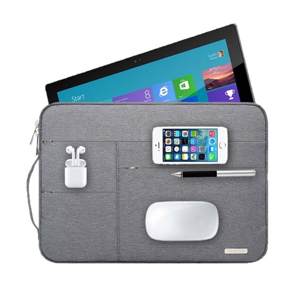 Audirex Water Drop Proof Laptop Tablet Sleeve Handbag for 12 - 13.3 Inch MacBook Air | MacBook Pro Retina 2012 - 2019 | 12.9 Inch iPad Pro | Surface Pro 6 5 4 | New Surface Pro (Grey) by Audirex