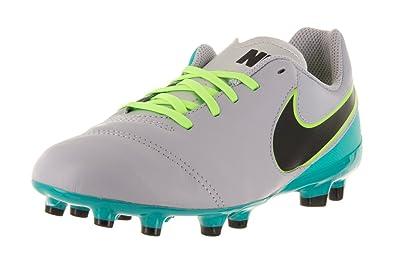 best service efa7c a71fe Nike Kids Tiempo Legend VI FG Wolf Grey/Black/Clear Jade Shoes