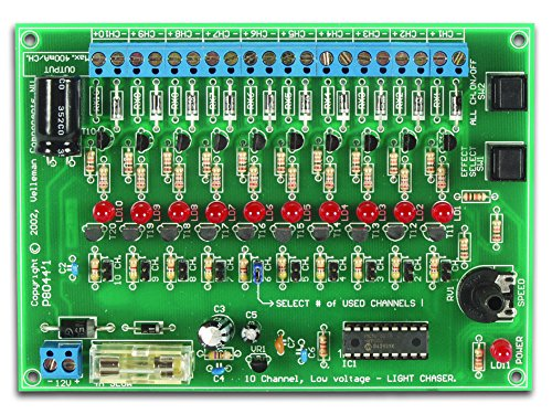 Velleman 10-CHANNEL 12VDC LIGHT EFFECT GENERATOR (Assembled & Tested)