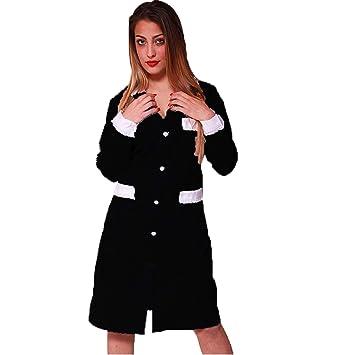 Bata de trabajo para mujer, ideal para camarera / asistente de limpieza / empleada de hogar, de algodón