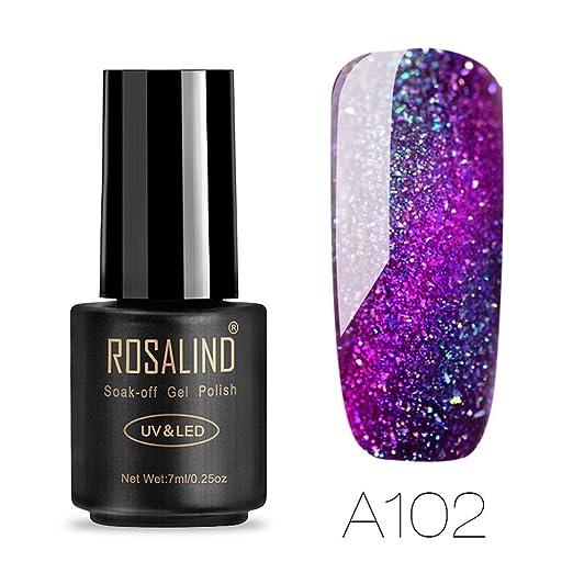 Amazon.com: UV Nail Gel Polish for Womens Ladies Girls, Iuhan® 7ML Chameleo Nail Polish Nail Art Nail Gel Polish UV LED Gel Polish (A): Health & Personal ...