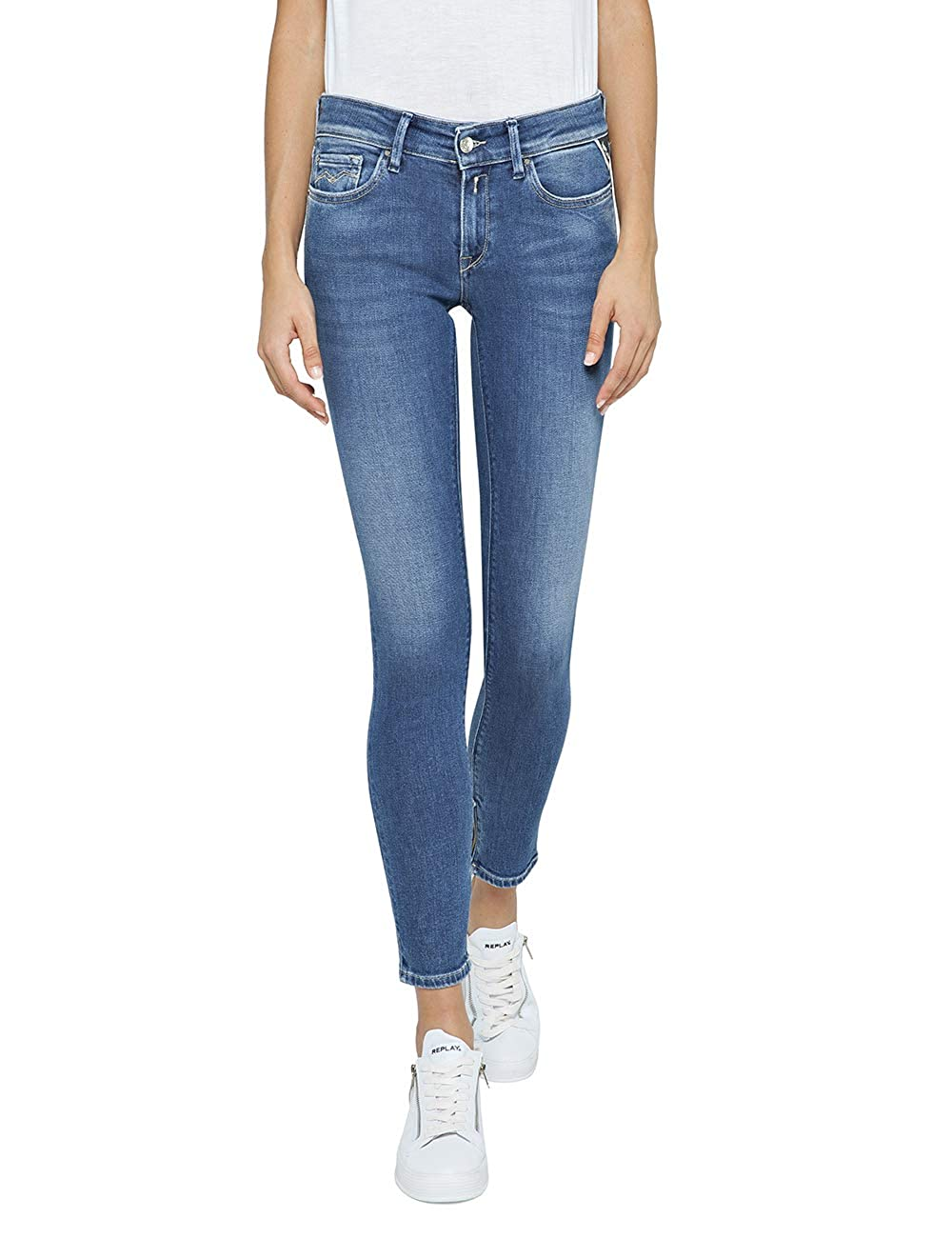 Medium bluee Replay Women's Skinny Fit Luz Jeans