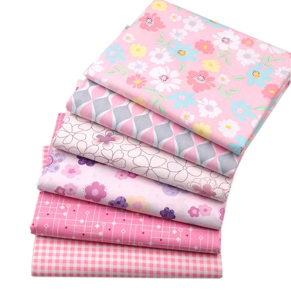 BYY - Lote de 6 telas de algodón para manualidades, 40 x 50 ...