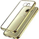 """Samsung Galaxy S7 Custodia, Ubegood Placcatura TPU per Samsung Galaxy S7 Case Custodia Bumper Cover [Protezione goccia] Galaxy S7 custodia protettiva (5,1"""") , Dorato"""