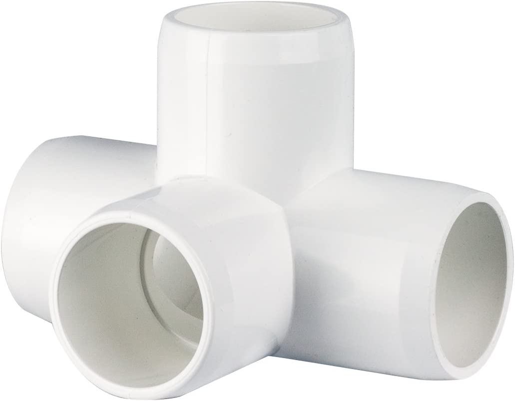 3/4 4 way TEE PVC Fitting Connector, 4 pack (4)