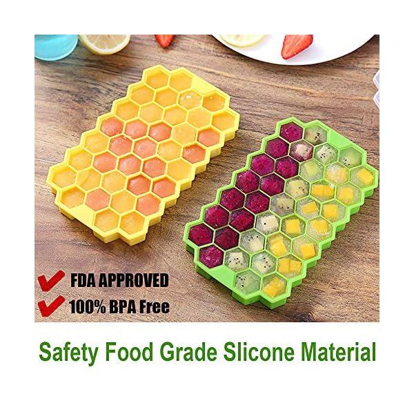 Vassoi per cubetti di ghiaccio Confezione da 2 stampi per cubetti di ghiaccio in silicone per alimenti con coperchio… 6 spesavip