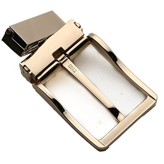 b6ffb1a62 Amazon.com  Reversible Prong Belt Buckles For 1 3 8Inch 35mm Mens Belt  Straps Gold Sliver Replacement Buckles(Gloden)  Clothing