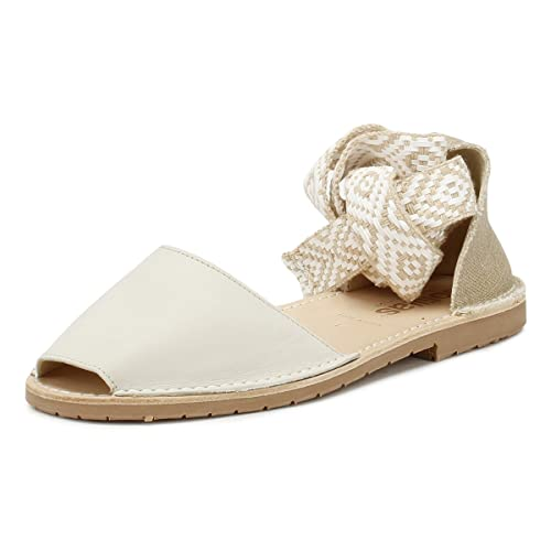 Tribal co Lilia Tie Solillas Ankle Amazon uk Womens Cream Sandals tqT8agU
