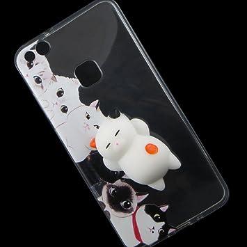 Funda TPU Flexible Micio 3d Squishy Gatos Gato Mici para Huawei P10 Lite: Amazon.es: Electrónica