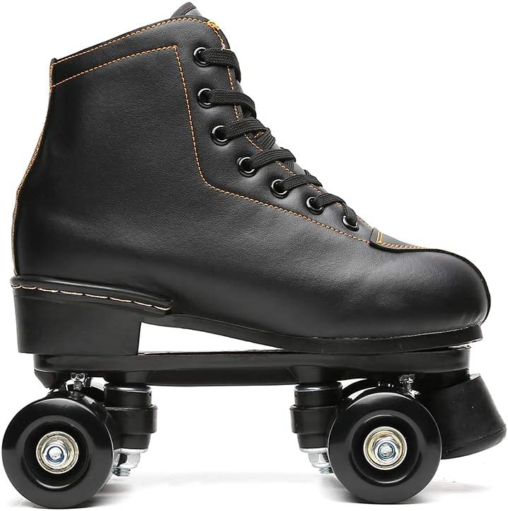 Chiximaxu Outdoor Quad Skates Adult Youth Artistic Roller Skate Boots for Dance Training Competition