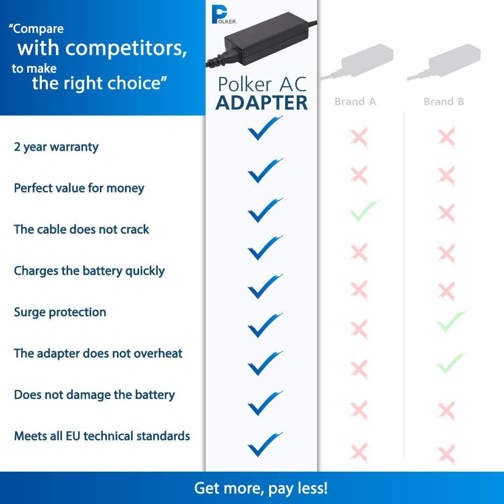 Extensa Ferrari und TravelMate 2 Jahre Garantie auf das Ladekabel Acer Laptop Acer Ladeger/ät 4.74A 5,5x1,7 19v 90w Laptop Netzteil Acer Aspire Laptop Acer Netzteil f/ür Acer