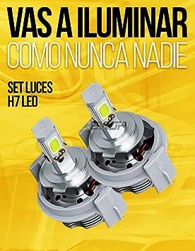 Set Bombillas LED H7 para cortas o largas. Blancas. Máxima visión H7 Led (2 bombillas): Amazon.es: Coche y moto