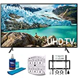 "Samsung 65"" RU7100 LED Smart 4K UHD TV 2019 Model (UN65RU7100FXZA) with Flat"