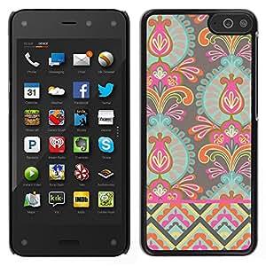 Amazon Fire Phone Único Patrón Plástico Duro Fundas Cover Cubre Hard Case Cover - Wallpaper Flowers Art Bright Colors