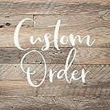 Custom Order for Glenda