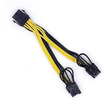 JMT 10PCS CPU 8Pin a Tarjeta de Video gráfica Doble PCI-E ...