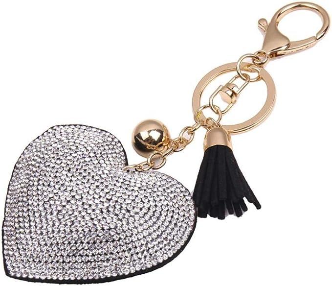 Amazon.com: Llavero con borla de diamantes de imitación ...