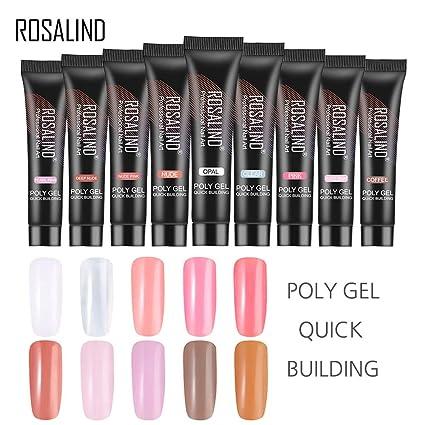 Jeeke Poly Gel Nail Extension Nail Builder Gel Trial Kit Professional Nail  Glue (E09- 4f366bb7068d