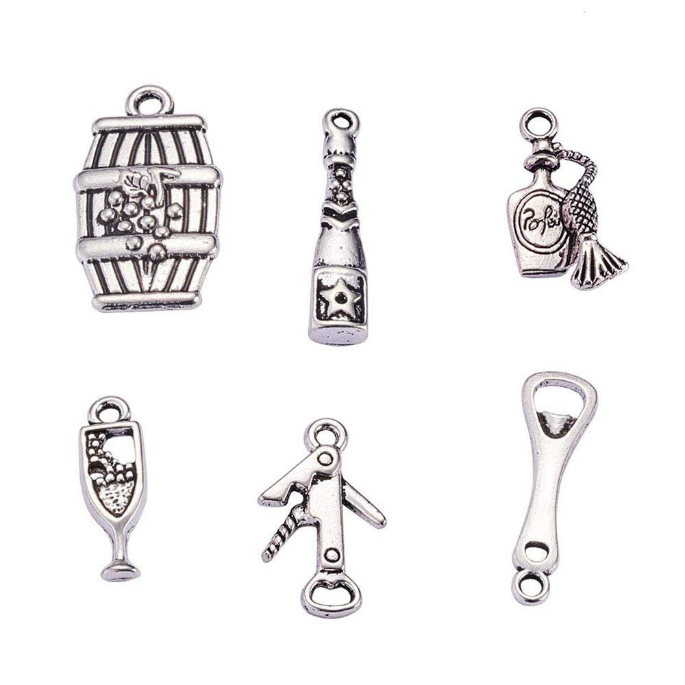 PH PandaHall 20pcs 10 Styles Western Cowboy Charms Antique Silver Alloy Pendants Charms for DIY Necklace Bracelet Jewelry Making