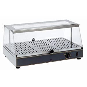 Equipex WD-100 Top Gon 24-Inch Single Shelf Commercial Countertop Display Warmer, Stainless Steel, 120V
