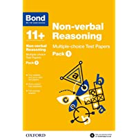 Bond 11+: Non-verbal Reasoning: Multiple-choice Test Papers: Pack 1