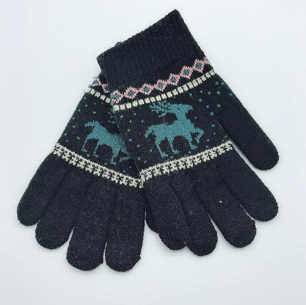 Hongxin Winter Baby Gloves,Christmas Children Winter Warm Knitted Cartoon Deer Finger Gloves